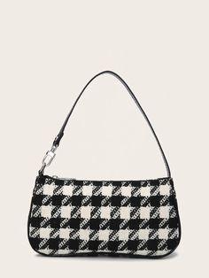 Baguette, Mini Purse, Mini Bag, Cute Suitcases, Aesthetic Bags, Mini Handbags, Cute Bags, Houndstooth, Vintage Bags