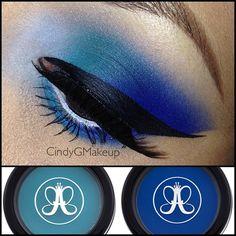 Teal & Blue makeup look!!