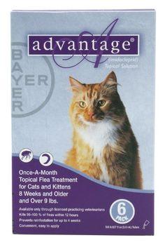 $58.99-$171.90 Advantage Cats >9 lb 6pk -  http://www.amazon.com/dp/B0019YZMFY/?tag=pin2pet-20