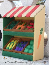 Kosucas : Tienda de verduras de fieltro