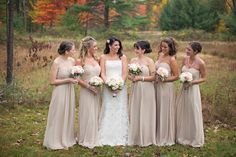 Champagne Bridesmaid Dresses Copyright Dyanna Joy Photography