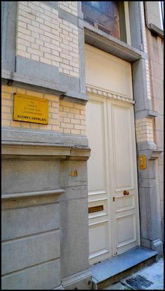 Audrey Hepburn's birth place in Ixelles,a municipality of Brussels. The house is located in the peaceful Keyenveld street,but is not visita...