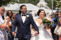 Bride and groom staged bubble exit from Disney Fairy Tale Wedding ceremony