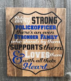 Excited to share the latest addition to my shop: Blue line rustic sign, Police family sign, Police home decor Police Sign, Police Officer Wife, Police Police, Rustic Signs, Wooden Signs, Police Family, Welcome Signs Front Door, Growth Chart Ruler, Police Gifts
