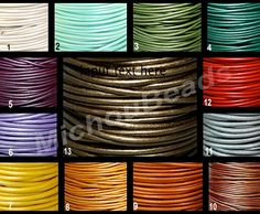 1mm METALLIC Round Leather Cord Lead Free Natural by MichouBeads Leather Cord Bracelets, To Color, Metallic Colors, Metal Beads, Vintage Colors, Natural Leather, Lead Free, Announcement, India