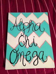 Alpha chi omega crafts