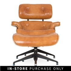 norman relax chair with wooden base