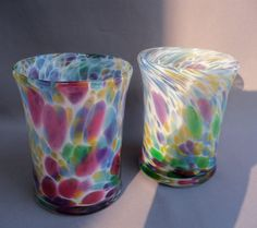 Shoply.com -Hand Blown Art Glass Tumblers Set of 2. Only $50.00