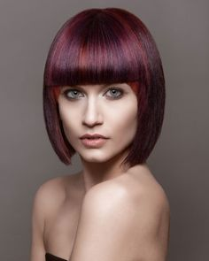 Harley Lobasso, Hair by Scott Co., Florida I could never pull this off, but the color and bangs with the sub layer are cool!