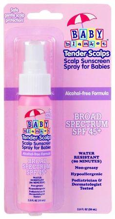 Baby Blanket Tender Scalps Sunscreen Spray - SPF 45 - 2 oz Baby Blanket Suncare http://www.amazon.com/dp/B0010WR73A/ref=cm_sw_r_pi_dp_plJQtb0D310NAN04