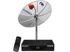 Antena Parabólica Analógica Century - Monoponto 150 MT