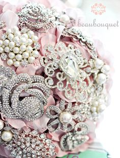 Pink Crystal Bridal Bouquet