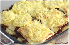 Pastel de patatas, carne picada y queso