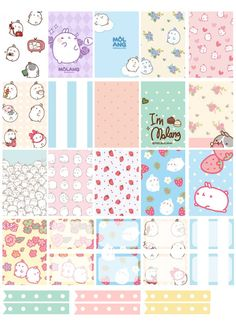Free Printable Molang Planner Stickers from Counting Sheepy