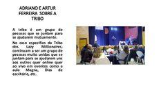 Adriano e Artur Ferreira blogger profissional falando sobre a Tribo e a Universidade da tribo no Slide Share: http://www.slideshare.net/atundu1/adriano-e-artur-ferreira De Reconhecida competência profissional suas dicas valem pelo seu peso em ouro. Achega-te a nós e agarra nova alternativa Aqui: http://adrianofonseca.com/e/alternativas