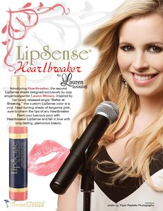 Heartbreaker #LipSense, pop singer Lauren Winans' 2nd exclusively designed LipSense shade!