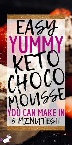 Keto chocolate mousse, perfect for when your chocolate cravings strike! This low-carb dessert uses only 4 ingredients & takes less than 5 minutes to whip up Low Carb Meal Plan, Low Carb Lunch, Low Carb Dinner Recipes, Low Carb Desserts, Keto Recipes, Lunch Recipes, Dessert Recipes, Healthy Recipes, Diet Lunch Ideas