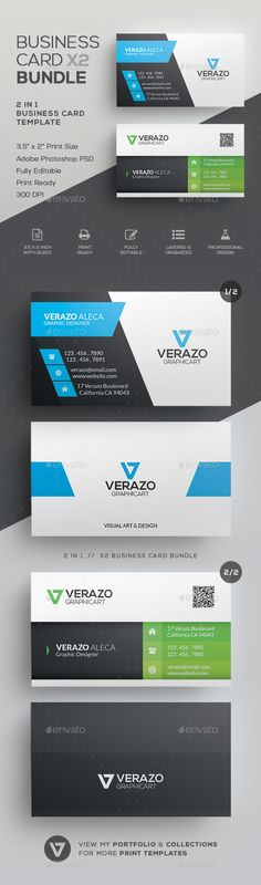 Business Card Bundle 30 - #Corporate #Business #Cards Download here: https://graphicriver.net/item/business-card-bundle-30/19725310?ref=alena994