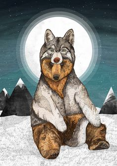 Wear Wolf // A3 print by SandraDieckmann
