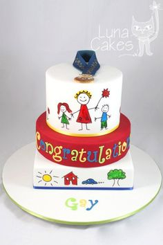love the hand painted cake!