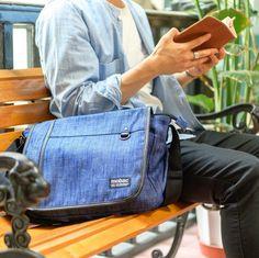 新シリーズdenimのショルダーバッグ通勤通学に便利です  #新作バッグ #デニム #mensbag #mobac #モバック #ショルダーバッグ #通学バッグ #通勤バッグ #shoulderbag #messengerbag