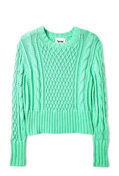 ACNE  JADE CROP CABLE KNIT