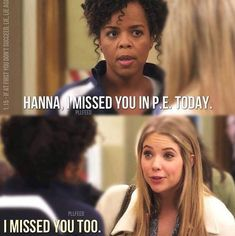 funny, pretty little liars and pll image on We Heart It Pll Quotes, Pll Memes, Movie Quotes, Best Tv Shows, Best Shows Ever, Favorite Tv Shows, Favorite Things, Freelee The Banana Girl, Pretty Little Liars Meme
