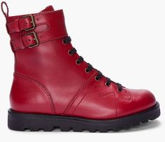 Red Leather Monkey Boots