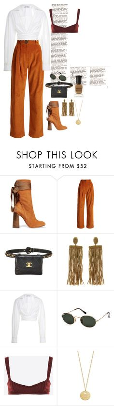 """Pumpkin Spice"" by masekennb ❤ liked on Polyvore featuring Chloé, A.W.A.K.E., Oscar de la Renta, Prabal Gurung, Ray-Ban, Valentino, Monica Vinader, Deborah Lippmann, Chanel and valentino"
