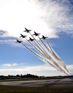 U.S. Navy Blue Angels flight demonstration squadron.