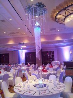 Ice tablescape centerpiece.