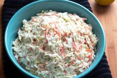 This easy and delicious Homemade Creamy Coleslaw makes the perfect side dish to serve with any meal. Also, it's a simple coleslaw that tastes great. Creamy Cole Slaw Recipe, Coleslaw Recipe Easy, Kfc Coleslaw, Homemade Coleslaw, Slaw Recipes, Gourmet Recipes, Cooking Recipes, Healthy Recipes, Cabbage Recipes