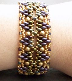 Beading Tutorial, Twin Bead Bracelet Pattern,  Super Duos, Beadwoven Bracelet, Step by Step with Detailed Diagrams, Empyreal, via Etsy.
