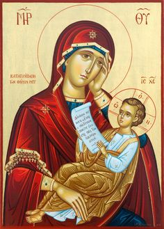 Religious Icons, Religious Art, Images Of Faith, Religious Paintings, Byzantine Icons, Orthodox Icons, Blessed Mother, Our Lady, Madonna
