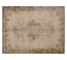 Fallon Persian-Style Printed Rug | Pottery Barn: Unless you are determined to have a rug with color, you can definitely do a neutral rug like this one in the great room.