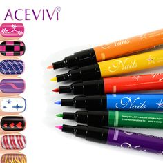 ACEVIVI 1PCS 2017 New Fashion Nail Art Pen Painting Design Nail Tools Drawing Gel Made Easy Nail Beauty Accessories Hight Qualit
