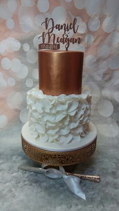 Daniel and Meagan's Engagement Cake