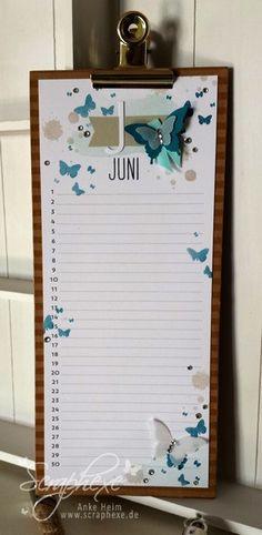 Juni, Kalenderkunst, Perpetual Birthday Calendar, scraphexe