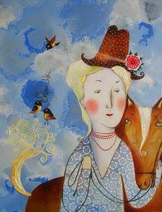 Люблю я лошадок, что тут поделаешь... Художник - иллюстратор Анна Силивончик