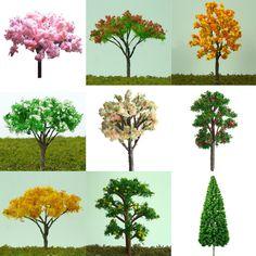 20pcs Miniature Sakura Tree Plants Fairy Garden Decoration Dollhouse Pot Decor in Garden & Patio, Garden Ornaments, Statues & Lawn Ornaments | eBay
