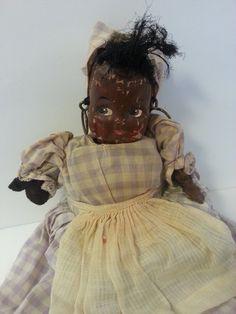 Adorable antique primitif folk art poupée en par Sunflowerhouse