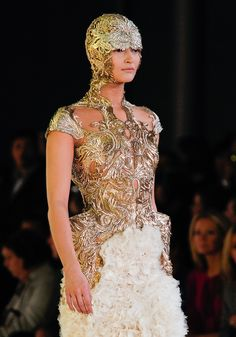 That, is an amazing headdress. Made for a valkyrie. (Alexander McQueen)