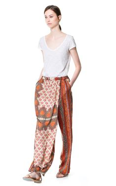 FLOWING PRINTED TROUSERS