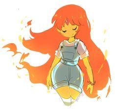 flame princess by KazunaPikachu Adventure Time Flame Princess, Adventure Time Princesses, Adventure Time Girls, Adventure Time Anime, Flame Princess And Finn, Cartoon Drawings, Cartoon Art, Cute Drawings, Time Cartoon