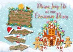 christmas party invitation, handmade digital invite, christmas gingerbread invite, christmas invite - Digital File - DIY PRINTABLE  This is for a 4x6 or 5x7 digital file that you print yourself. No physical items will be mailed. You can either print at home or it can uploaded to an online printing service. You can even leave as a digital file and email your information or post on social media to save yourself postage charges!  This invitation comes to you in a digital file JPG and PDF format…