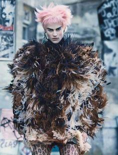 Pubication: W Magazine October 2013, photographer: Craig McDean, model: Saskia de Brauw, stylist: Edward Enninful, hair: James Pecis, make-up: Peter Philips &  set design: Jean-Hugues Chatillon