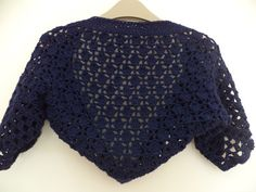 Indigo color bolero made from cotton and silk