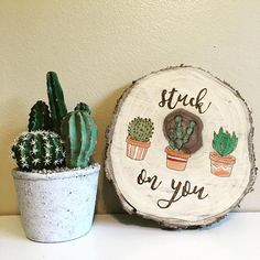 Watercolor Cactus, Succulents Nursery, Potted Cactus Art, Watercolor Succulents, Pot Succulent Small, Reclaimed Wood Sign, Cactus Quote