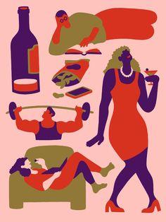 After Work — Lisa Tegtmeier Lisa, New Scientist, Teenage Daughters, Paradigm Shift, Freelance Illustrator, Losing Her, Graphic Illustration, Workplace, Disney Characters
