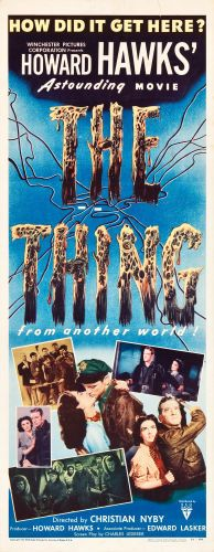 """Movie Posters:Science Fiction, The Thing from Another World (RKO, 1951). Insert (14"""" X 36"""").. ..."""